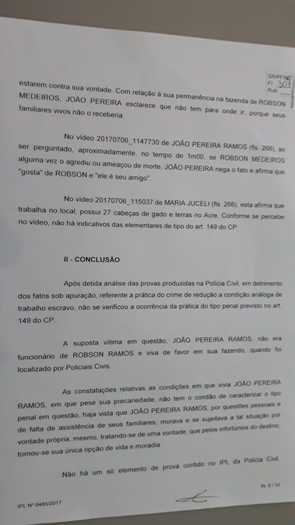 advogado Robson Medeiros, trabalho escravo