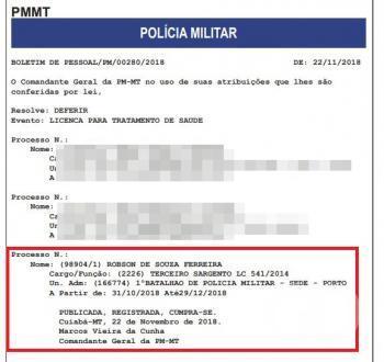 Robson de Souza Ferreira, homicídio zero km, tratamento de saúde