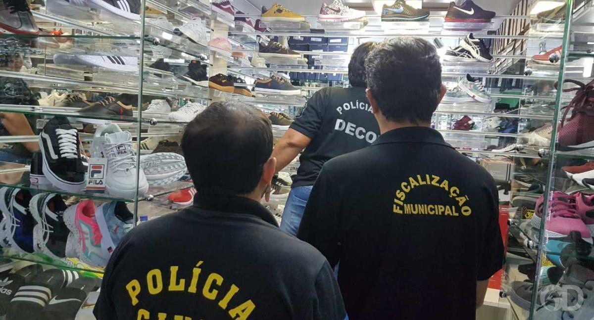 74e56a459 Mais de 600 calçados são apreendidos em operação contra a pirataria ...