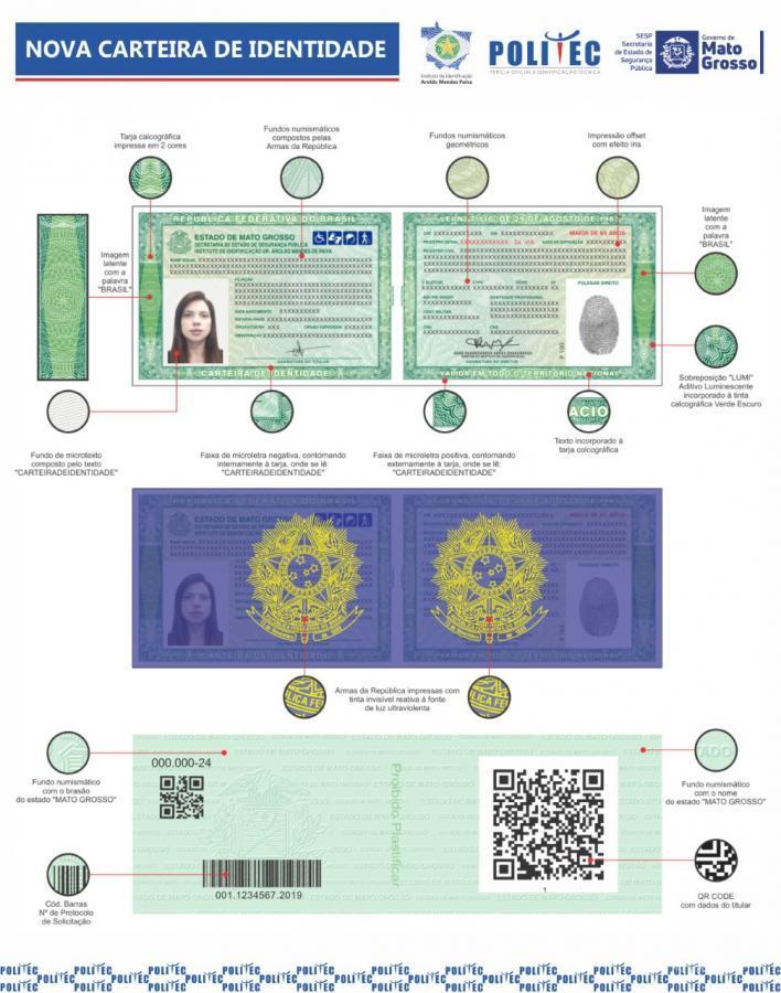 Nova carteira de identidade 2019