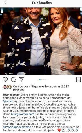 Virginia Mendes e Bruno Astuto