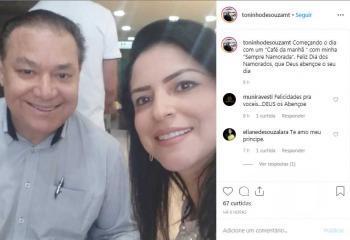 Toninho de Souza e esposa Eliane