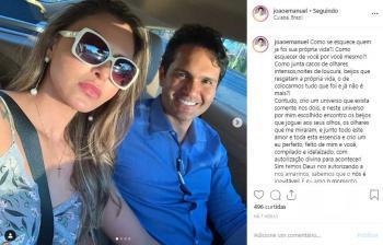 João Emanuel e namorada