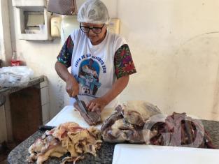 Festeiros de São Benedito nos preparativos