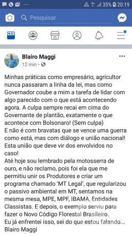 Ex-ministro Blairo Maggi
