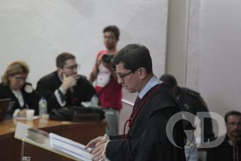 Promotor Allan do Ó durante acusação da grampolândia