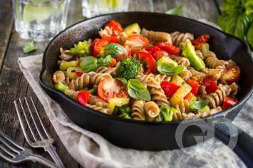 Pasta com legumes
