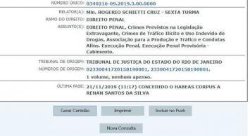 habeas corpus, rennan da penha