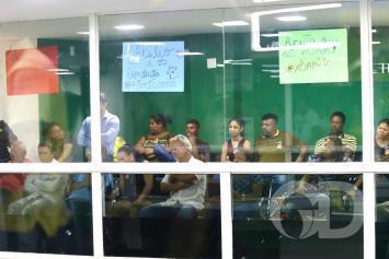 Protesto Câmara de Cuiabá sessão