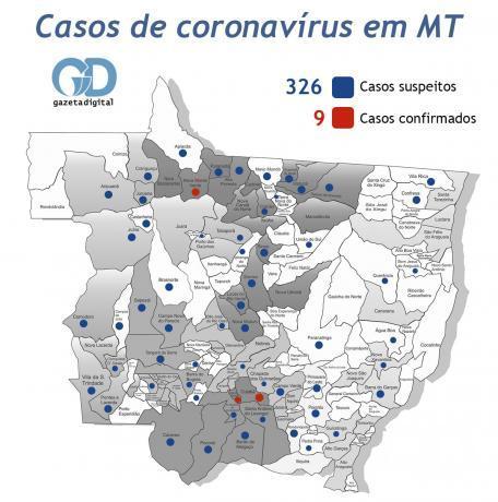 Mapa e Lista Coronavírus - 25 de março