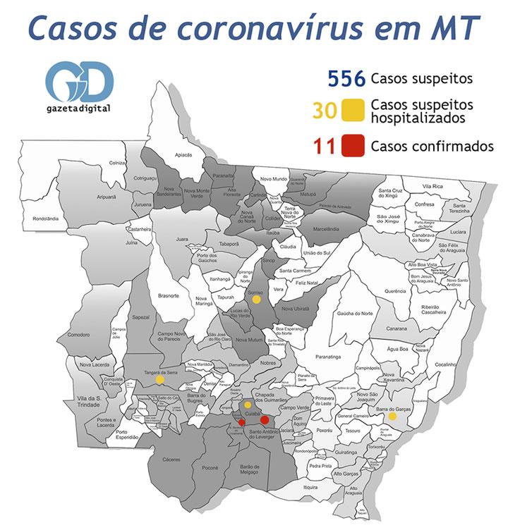 Mapa coronavírus 27 de março