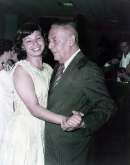 Rubens de Mendonça com a filha Adélia