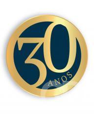 Selo 30 anos Grupo Gazeta