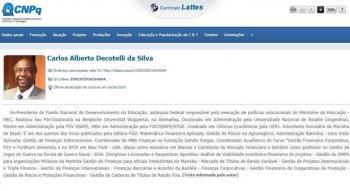 carlos decotelli, ministro da educação, curriculo