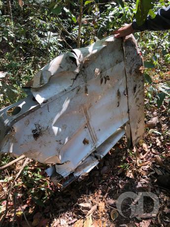 Destroços avião
