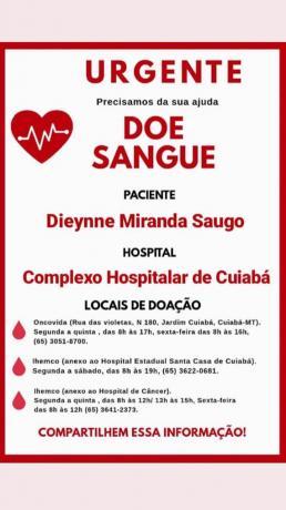 DOACAO DE SANGUE MEDICA dyeinne saugo campanha