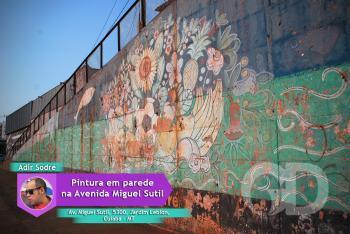 Pintura de Adir Sodré na Avenida Miguel Sutil