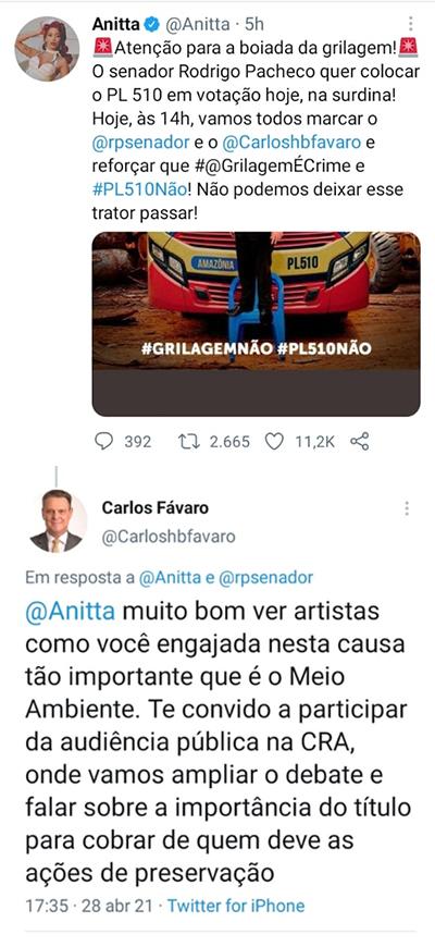 Anitta e Favaro